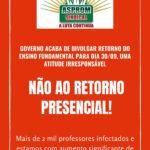 PROFESSORES DO AMAZONAS ENTRAM EM GREVE CONTRA DETERMINAÇÃO DO GOVERNO PARA VOLTA ÀS AULAS